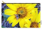 Bee On Wild Sunflowers Carry-all Pouch