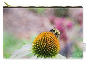 Bee On Yellow Coneflower Carry-all Pouch