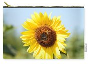 Bee On Yellow Sunflower Carry-all Pouch