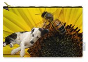 Bee With Dog Carry-all Pouch
