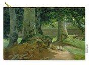 Beech Trees In Frederiksdal Near Copenhagen Carry-all Pouch by Christian Ernst Bernhard Morgenstern
