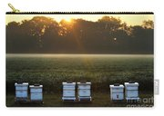 Beehives At Sunrise Carry-all Pouch
