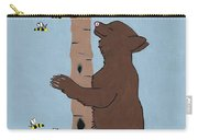 Bees And The Bear Carry-all Pouch