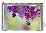 Bees On Butterfly Bush Framed Carry-all Pouch