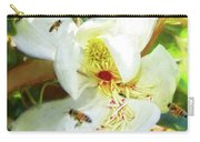 Bees On Open Magnolia Carry-all Pouch