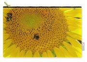 Bees Share A Sunflower Carry-all Pouch