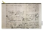 Beethoven Manuscript Carry-all Pouch