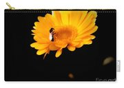 Bee On Yellow Mum Carry-all Pouch