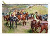 Before The Race Carry-all Pouch by Edgar Degas