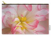 Begonia Pink Frills - Horizontal Carry-all Pouch