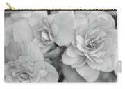 Begonias In Black And White Carry-all Pouch