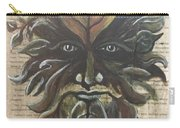 Beguiling Green Man Carry-all Pouch
