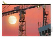 Behind The Crane A Hunter's Moon Rises II Carry-all Pouch