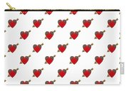 Bejewelled Heart Half Drop Carry-all Pouch