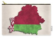 Belarus Map Art With Flag Design Carry-all Pouch