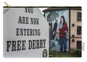 Belfast Mural - Free Derry - Ireland Carry-all Pouch