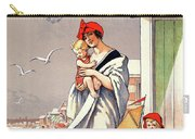 Belgium Ostende Vintage Travel Poster Restored Carry-all Pouch
