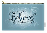 Believe Winter Art Carry-all Pouch