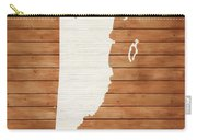 Belize Rustic Map On Wood Carry-all Pouch
