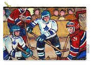 Bell Center Hockey Art Goalie Carey Price Makes A Save Original 6 Teams Habs Vs Leafs Carole Spandau Carry-all Pouch