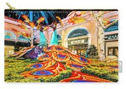 Bellagio Conservatory Fall Peacock Display Side View Wide 2 To 1 Ratio Carry-all Pouch