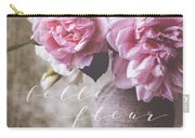 Belle Fleur Pink Peonies Carry-all Pouch
