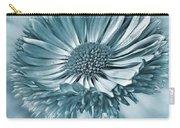 Bellis In Cyan  #flower #flowers Carry-all Pouch