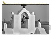 Bells In Oia Bw Carry-all Pouch