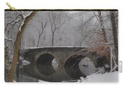 Bells Mill Bridge On A Snowy Day Carry-all Pouch