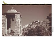 Belltower And Fortress Of Palamidi, Nafplio, Greece. Sepia. Carry-all Pouch