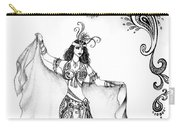 Belly Dancer With Veil. Friend Of Ameynra Carry-all Pouch