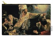 Belshazzars Feast Carry-all Pouch by Rembrandt