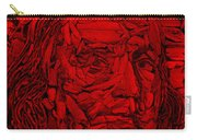 Ben In Wood Red Carry-all Pouch