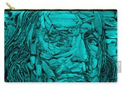 Ben In Wood Turquoise Carry-all Pouch
