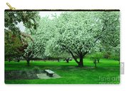 Bench Among.the Blossoms Carry-all Pouch