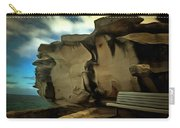Bench And Huge Overhanging Rock Carry-all Pouch