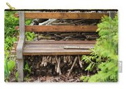 Bench And Wood Pile Carry-all Pouch
