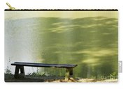 Bench On A Lake Carry-all Pouch