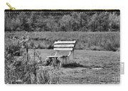 Bench Park Black White  Carry-all Pouch