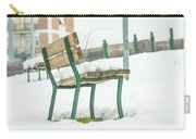 Bench With Snow Carry-all Pouch