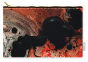 Beneath The Fire - Red And Black Painting Art Carry-all Pouch