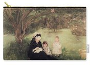 Beneath The Lilac At Maurecourt Carry-all Pouch by Berthe Morisot
