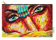 Exotic Desert Eyes Painting, Beneath The Niqab Carry-all Pouch