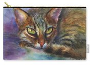 Bengal Cat Watercolor Art Painting Carry-all Pouch