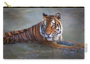 Bengal Tiger Laying Water Carry-all Pouch