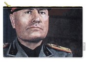 Benito Mussolini Color Portrait Circa 1935 Carry-all Pouch