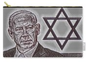 Benjamin Netanyahu With Star Of David Carry-all Pouch