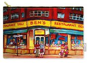 Ben's Delicatessen - Montreal Memories - Montreal Landmarks - Montreal City Scene - Paintings  Carry-all Pouch