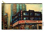 Bens Restaurant Deli Carry-all Pouch by Carole Spandau