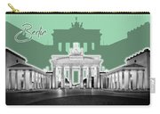 Berlin Brandenburg Gate - Graphic Art - Green Carry-all Pouch